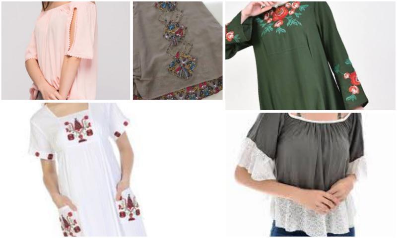 Şile Bezi dantelli Tunik Modelleri