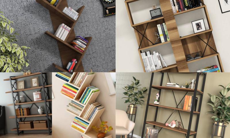 Modern Kitaplıklar Ev ve Ofislerin Havasını Degiştiriyor